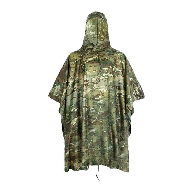 Men Women Outdoor Mountaineering Riding Raincoat Rain Cover Waterproof Cover Hiking Raincoat Poncho Camouflage Waterproof  Mat