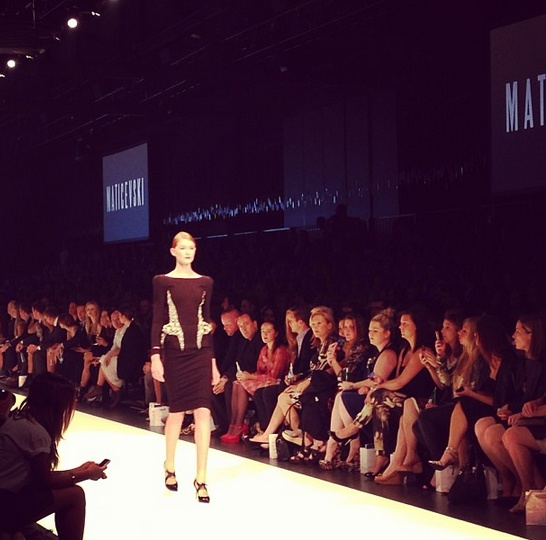 Structural perfection from @toni_maticevski #Maticevski #runway01 #lmffnow
