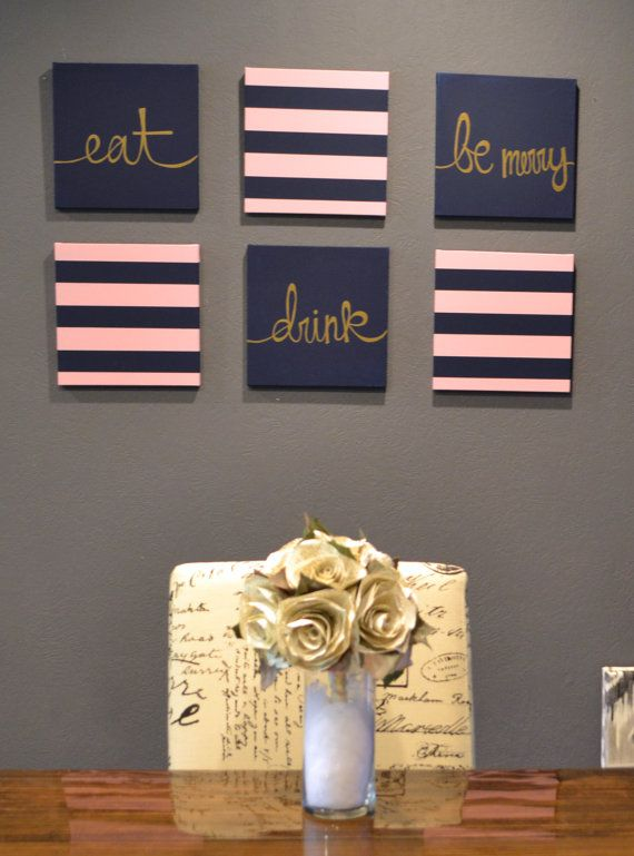 so in different colors and maybe without the stripe ones but how cute on the wall by the dinning table
