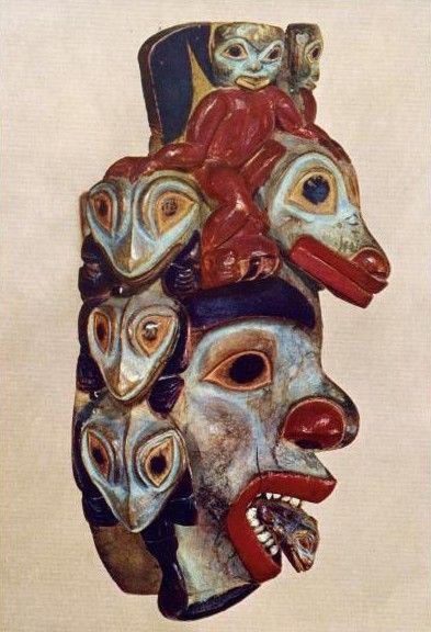 Indiani nativi americani (1825-1875) - Maschera sciamanica di Tinglit