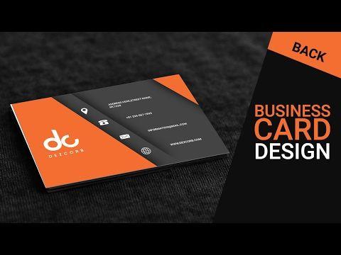 104 best photoshop images on pinterest tutorials image editing 8 business card design in photoshop cs6 back orange gray reheart Choice Image