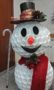 как сделать снеговика зимние поделки с детьми своими руками