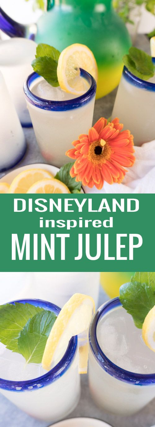 Easy Mint Julep inspired by Disneyland (Non-Alcoholic)