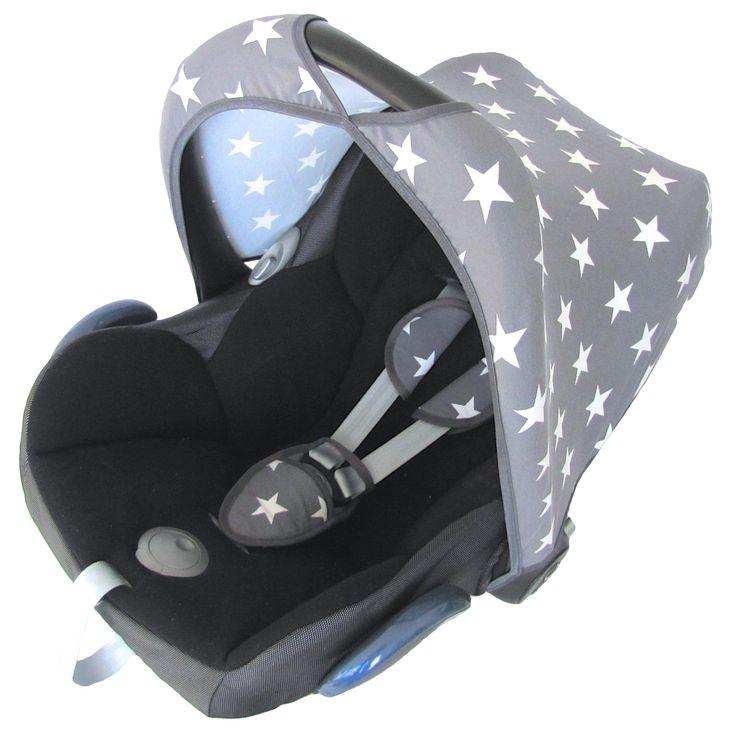 Grey Star sun hood canopy sunhood sonnenverdeck maxi cosi carseat car seat beltpads zonnekap zonkapje zonnehuis bekleding hoes ster grijs >> https://www.stoelsprookjes.nl/c-3077809/maxi-cosi/