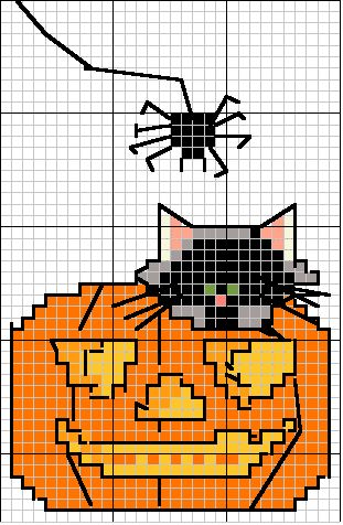 pumpkin cat and spider....don't need anything else
