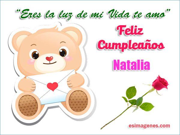 Feliz cumpleaños Natalia Imágenes Tarjetas Postales con Nombres Feliz Cumpleaños tigris