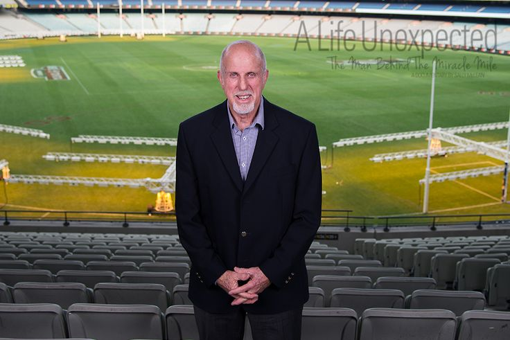 1968 Olympian, Allen Crawley at the MCG after his interview. Photo by Stefano Ferro.
