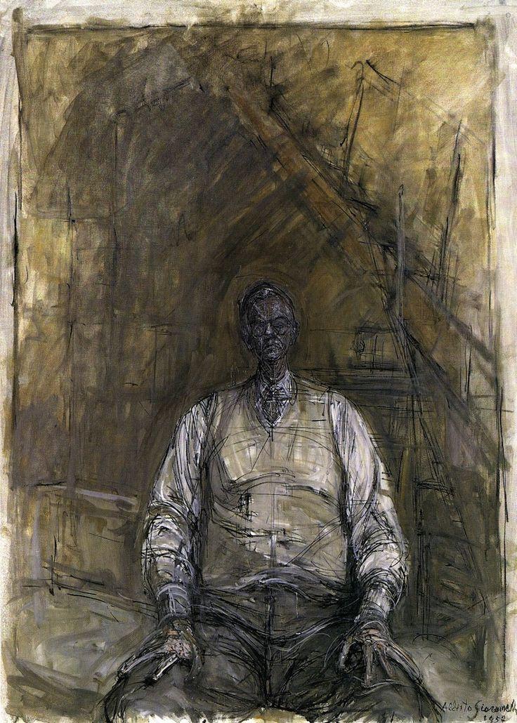 """ronulicny:    """"Portrait Of David Thompson"""", 1957  By: ALBERTO GIACOMETTI…."""