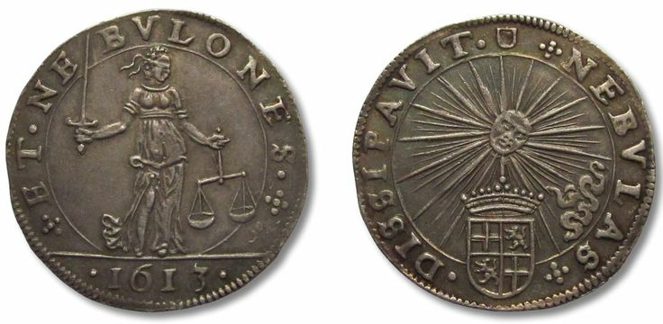 Spanish Netherlands, SILVER jeton 1613: peace and quiet restored in Utrecht. Minted in Utrecht.