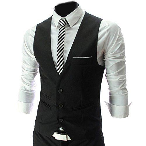 4 Farbe Herren Maenner Weste V-Neck Business Vest Gentleman Style Freizeit Anzug Guenstig(Medium,Schwarz) Fashion Season http://www.amazon.de/dp/B00JO8R2BE/ref=cm_sw_r_pi_dp_xjmuub0AC0QSP