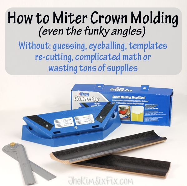 How To Miter Crown Molding At Any Angle Wood Working