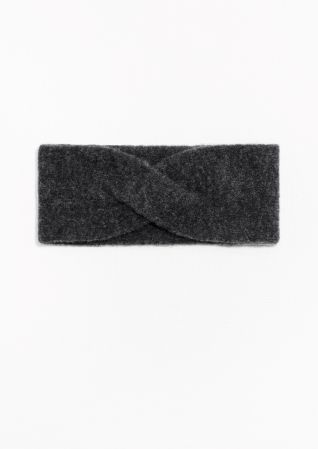 & Other Stories Merino Wool Headband in Dark Grey
