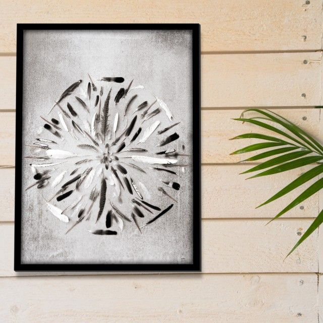 Feather mandala, Art Print by Scandinavian designer Caro-Lines - Nordic Design Collective