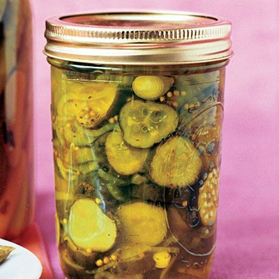 Pickles, etc.~Sunset has a great article that gives you a basic outline for throwing a canning party. Recipes included, too.  Your canning guide:canning basics,jams, and pickle recipes