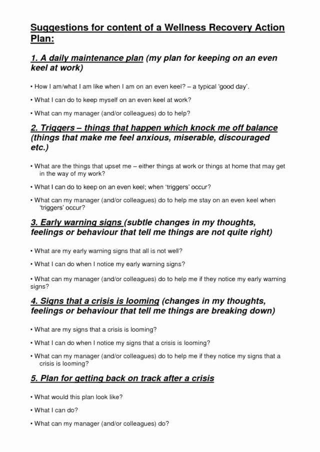 40 Wellness Recovery Action Plan Pdf With Images Wellness