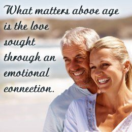 What is the right age difference between couples can paraphrased?