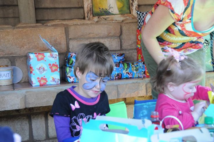 Fish theme party - A pretty little butterfly face paint