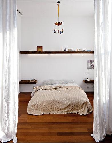 Bedroom under shelf lighting