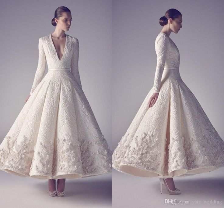 Wedding Gowns For The Mature Bride: African Evening Dresses Long Sleeves Ankle Length Evening