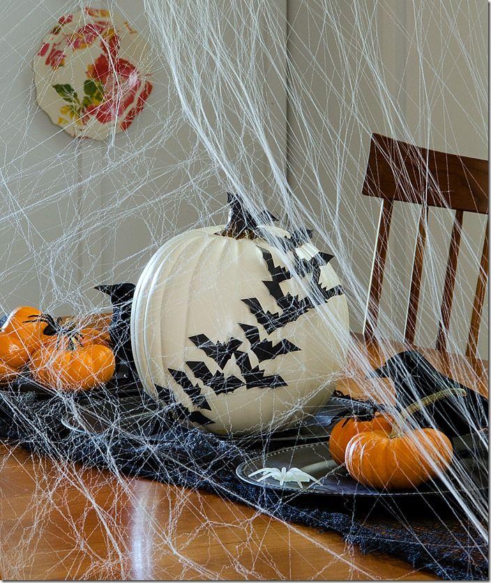 bats flying across a pumpkin pumpkin for halloweenhalloween home decordiy halloween decorationshaunted