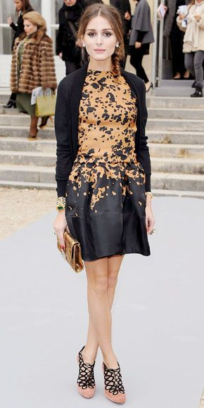 A splash of this year's hottest hue amped up Olivia Palermo's LBD.