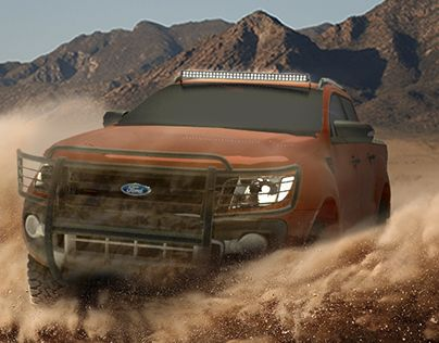 "Check out new work on my @Behance portfolio: ""Ford Ranger 