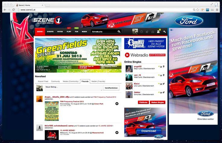 Ford Racebook - Sitebranding auf Szene1.at