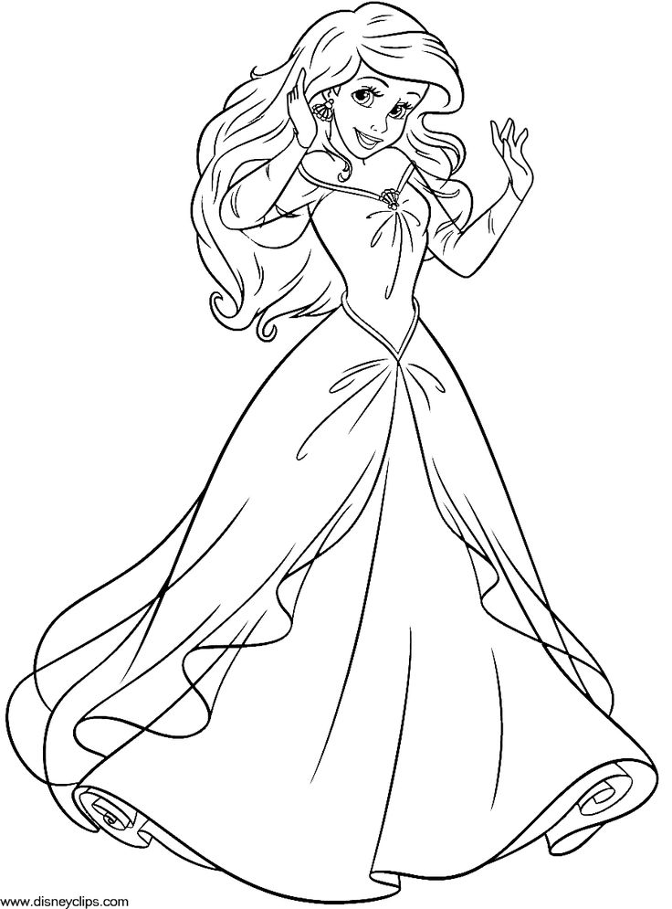 The Little Mermaid Coloring Pages Ariel And Eric Christmas Picture PagesDisney PagesFree