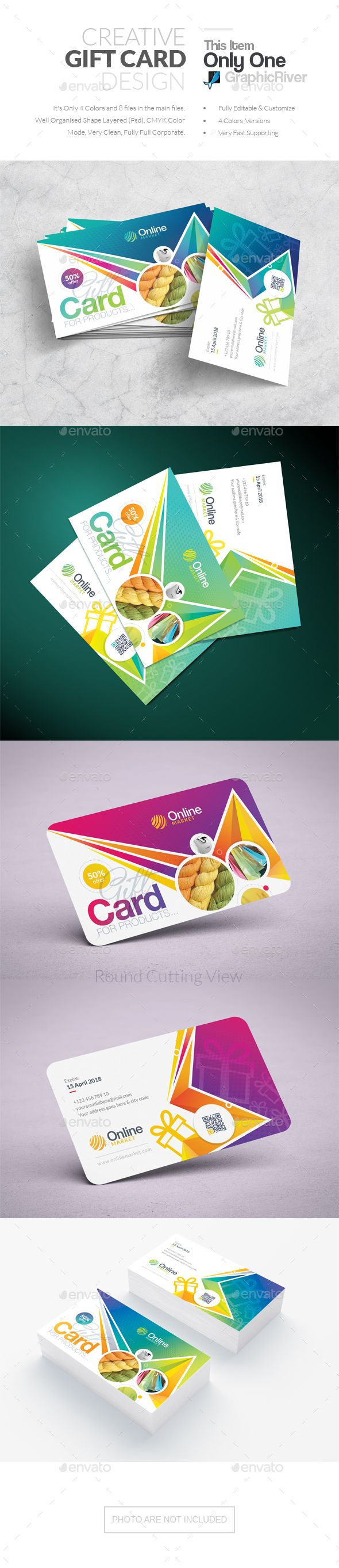 #Gift Card - #Cards & #Invites Print Templates
