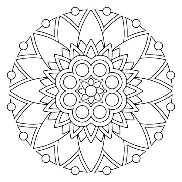 free printable mandala coloring pages imagine these done on fabric with inktense pencils - Coloring Pages Mandalas Printable