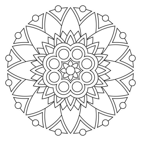 Mandalas to print and color free