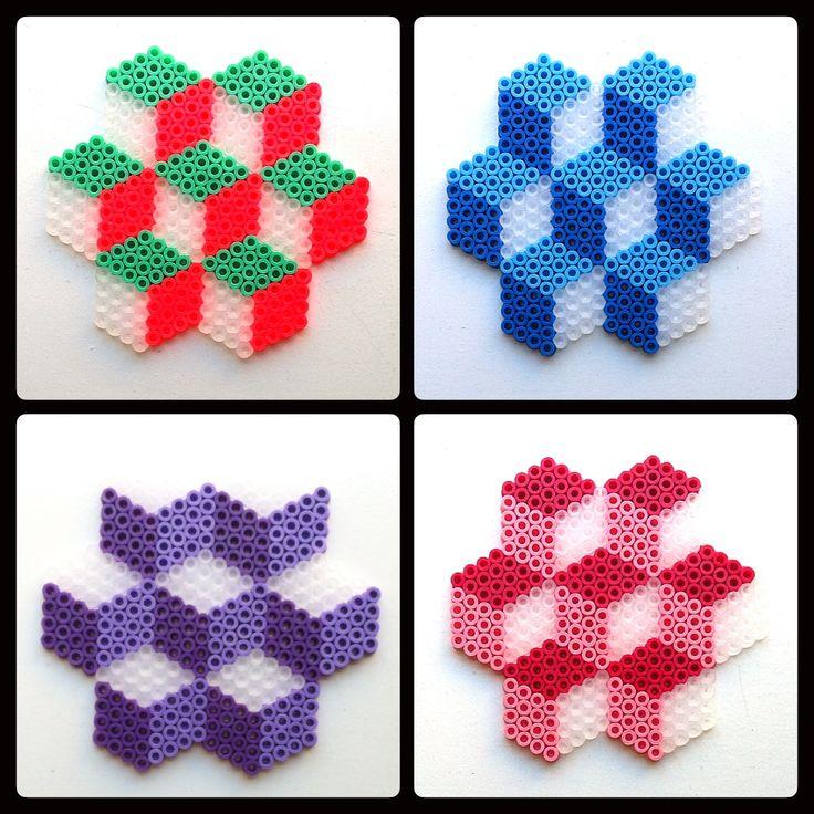 Illusion coasters hama beads - IMYBY