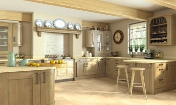 Traditional style kitchen. Pronto Odessa Oak Kitchen - By BA Components.