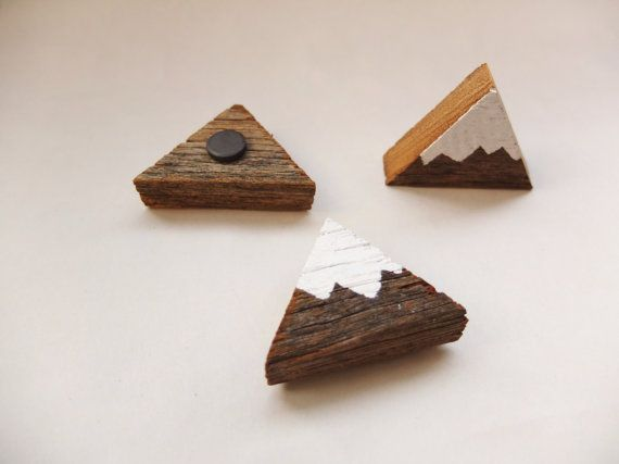 Mountain magnets Set of 3 by OursandHours on Etsy