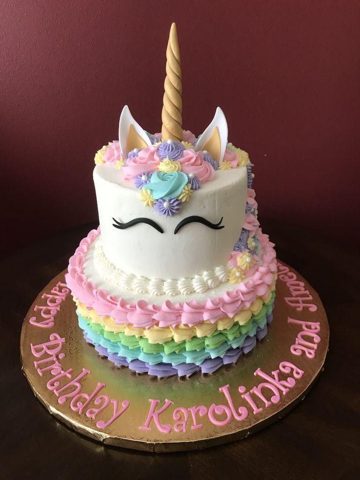 Unicorn Birthday Cake In 2020 Birthday Cake Girls Girl