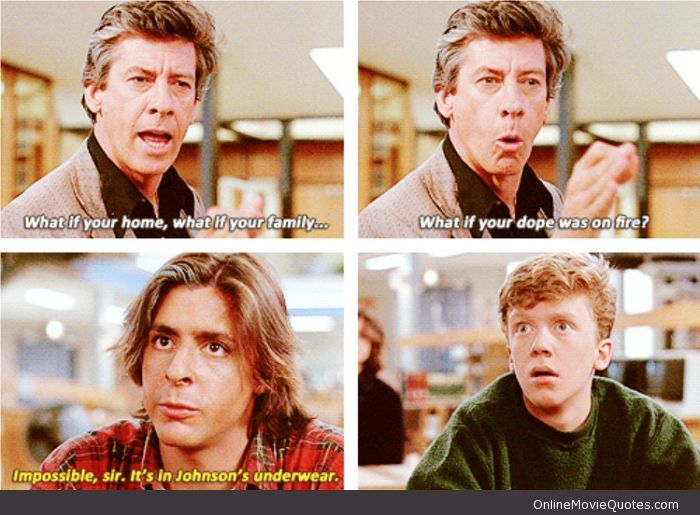Cool Movie quotes: Impossible, Sir - #Movie #Quote from The Breakfast Club... Ha.