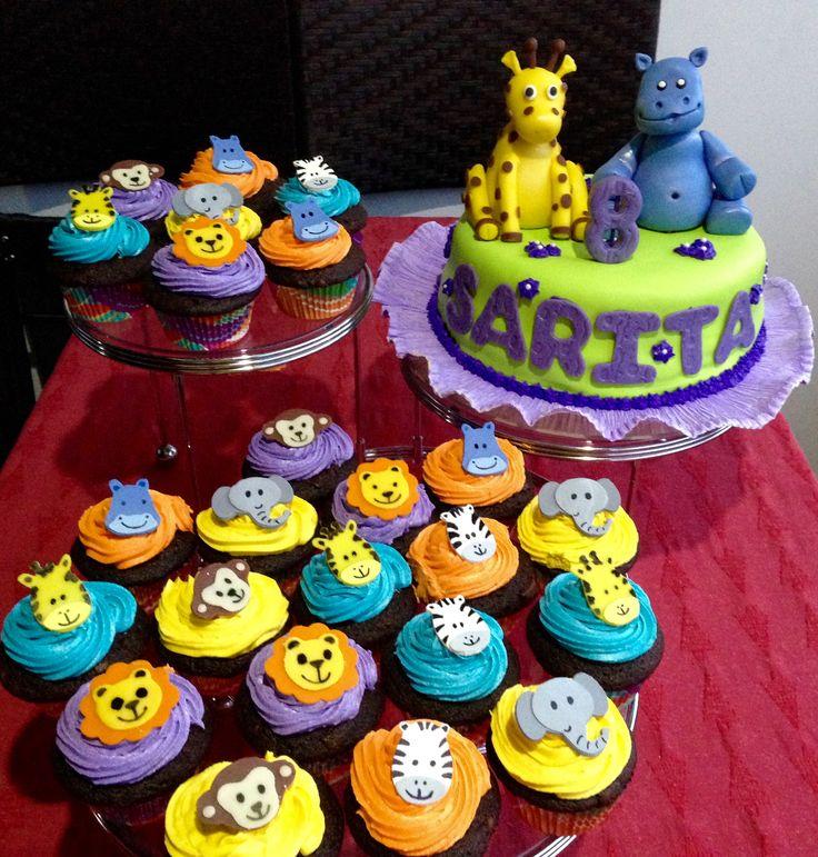 Tata-Sabores. Tortas & Postres. Torta y Cupcakes animales