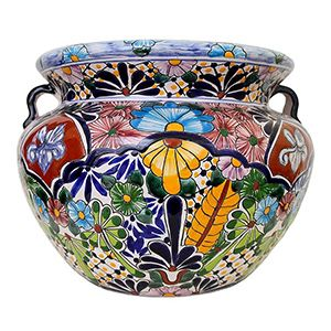 Lovely These Delightful Talavera Planters Embody All The Charm Of Mexican  Talavera. Featuring Intricate Floral Patterns And Classic, Multi Colored  Designs, ...
