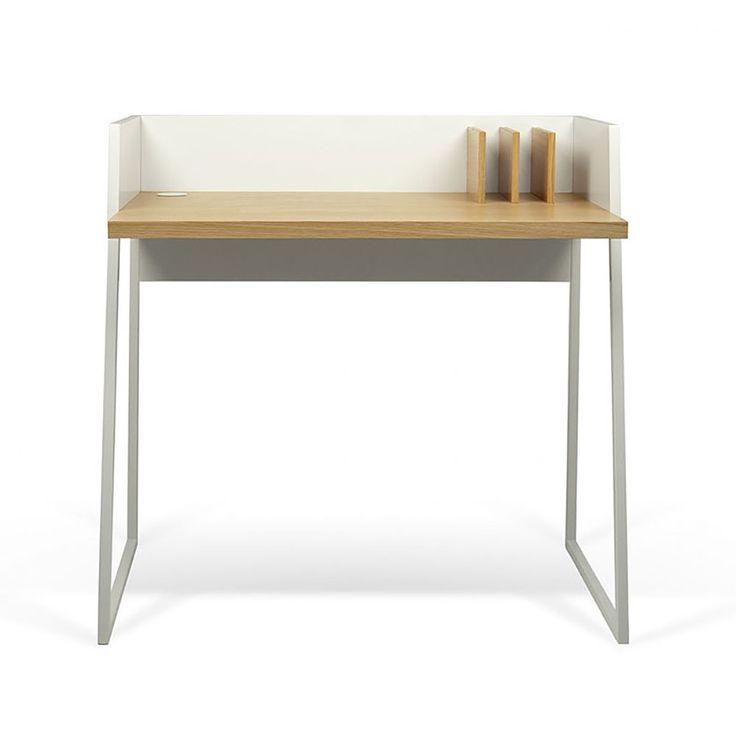 volga desk pure white oak 800