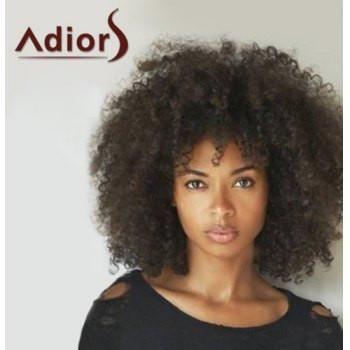 Fashion Medium Capless Fluffy Afro Curly Heat Resistant Fiber Adiors Wig For Women