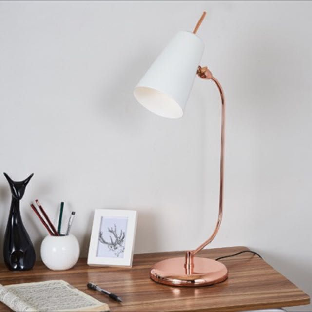 Architecture Luxe Rose Gold Natural Marble Desk Study Office Table
