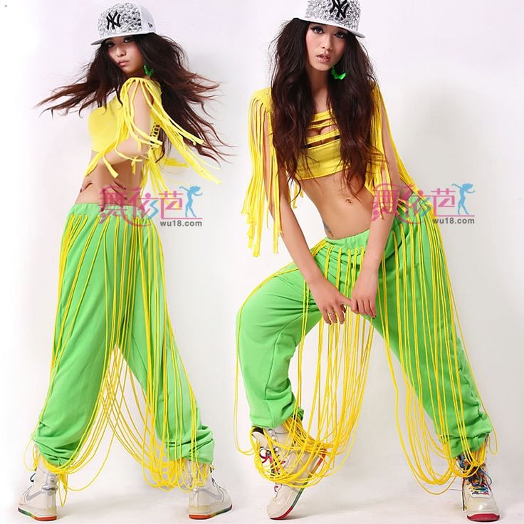 Neon green Hiphop jeans Jazz dance clothes Female Hip hop women Free shipping-inPants & Capris from Apparel & Accessories on Aliexpress.com