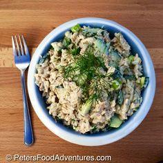 Russian Fish Salad with Tuna (рыбный салат)