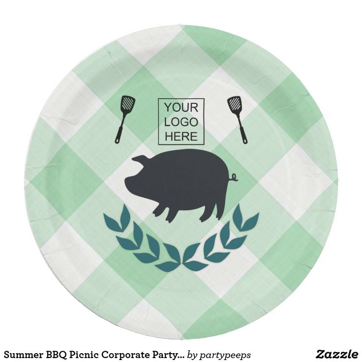 Summer BBQ Picnic Corporate Party Customizable Paper Plate