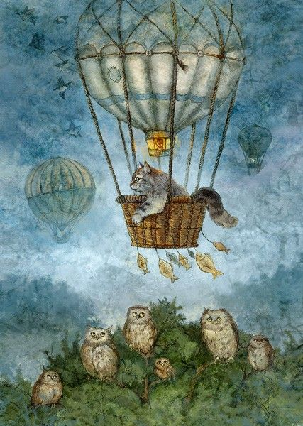 Полет на воздушном шаре - Lovelycards