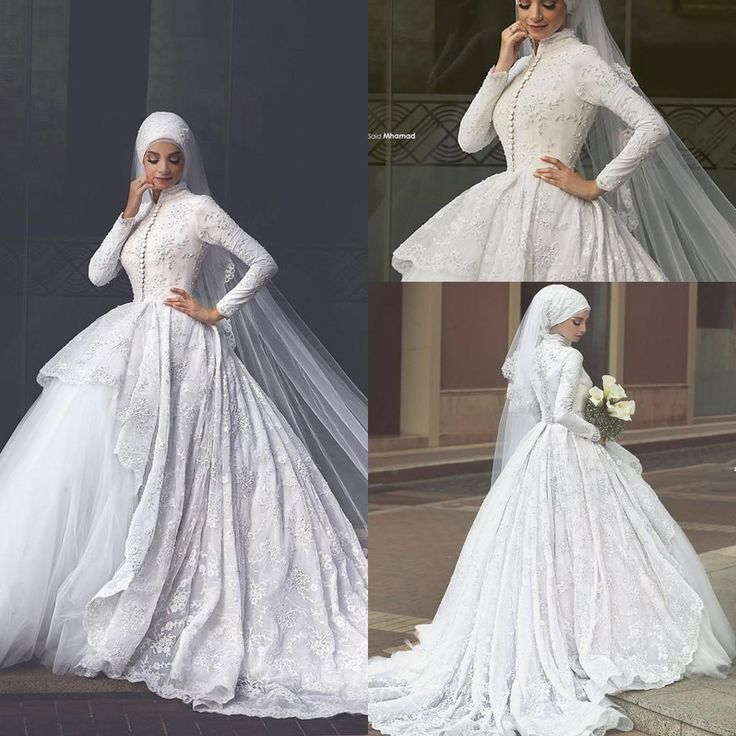Islamic Wedding Dresses Tumblr : Wedding dresses with lace new arabic muslim ball gown
