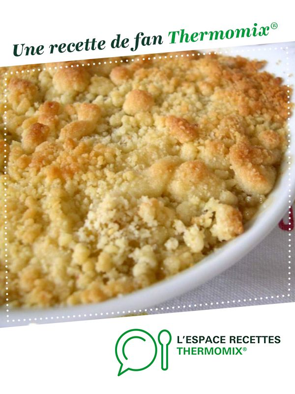 Crumble aux pommes par mae.f. Une recette de fan à retrouver dans la catégorie Desserts & Confiseries sur www.espace-recettes.fr, de Thermomix<sup>®</sup>.