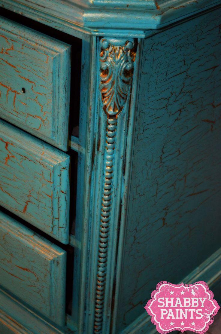 87 Best Images About Crackle Paint Furniture On Pinterest