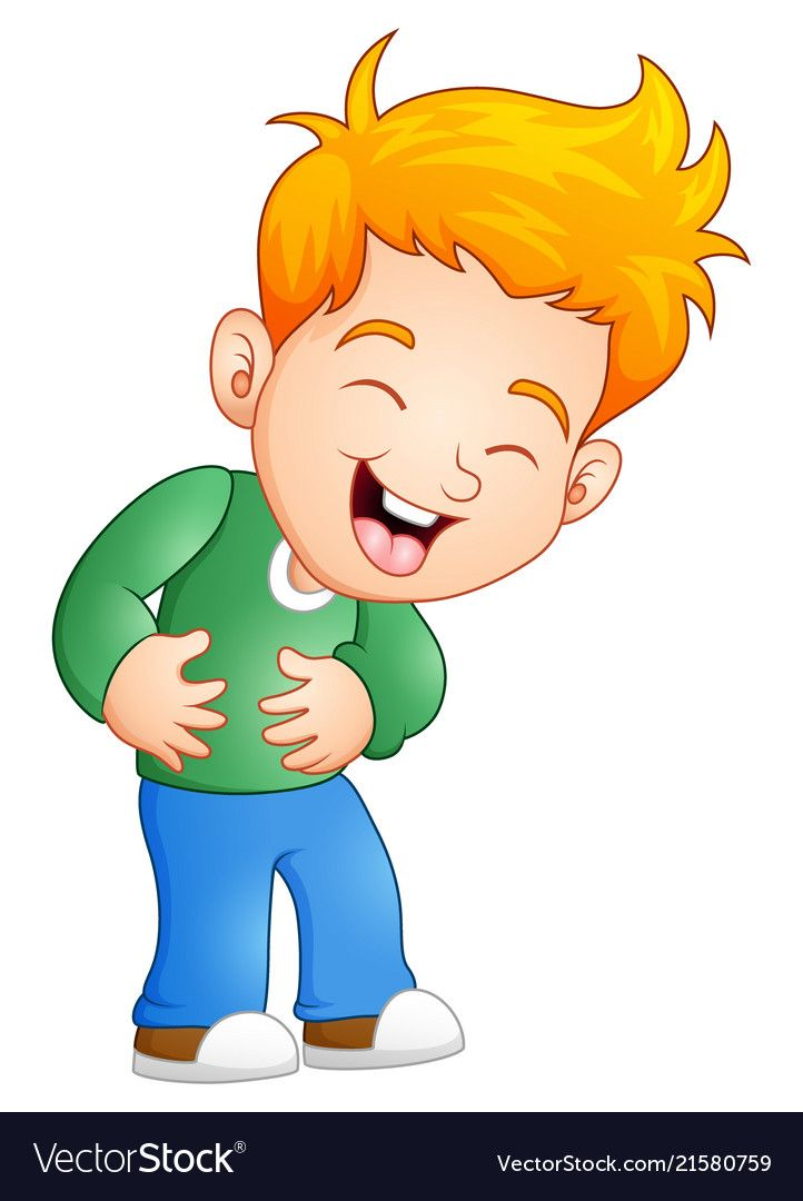 Little Boy Laughing Out Loud Vector Image On Vectorstock Cute Love Cartoons Kids Cartoon Characters Cute Cartoon Wallpapers