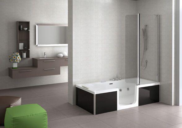 Indeciso tra #vasca e #doccia?  Con la Vasca Double di Grandform non devi più scegliere!
